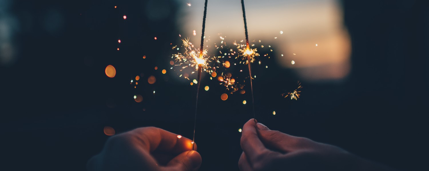 Sparklers at a wedding or party